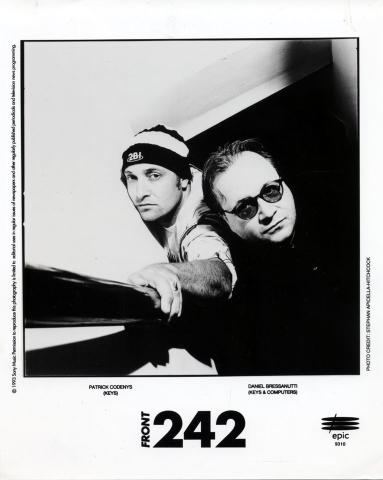 Front 242 Promo Print