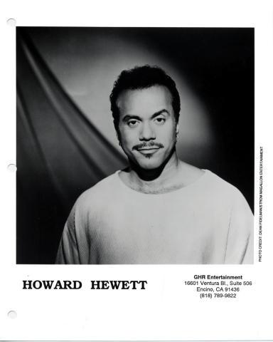 Howard Hewett Promo Print