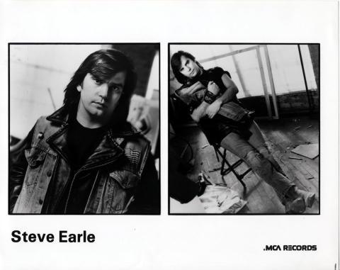 Steve Earle Promo Print