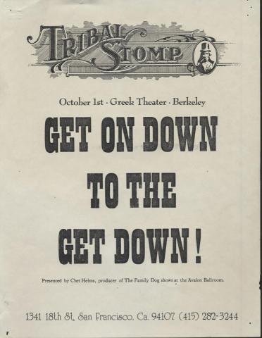 Tribal Stomp Handbill