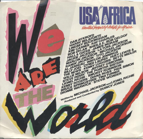 """USA for Africa Vinyl 7"""" (Used)"""