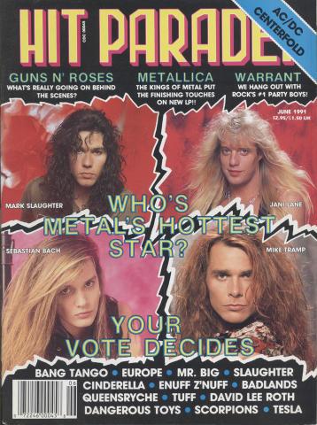 Hit Parader Magazine June 1991