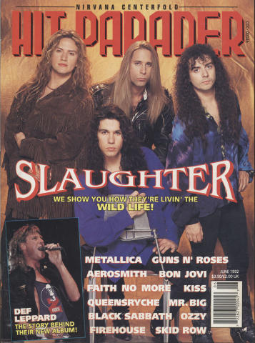 Hit Parader Magazine June 1992