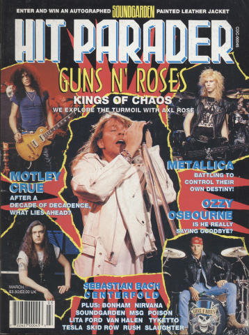 Hit Parader Magazine March 1992