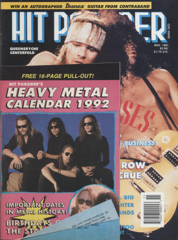 Hit Parader Magazine November 1991
