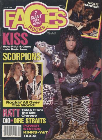 Rocks Faces Magazine February 1986