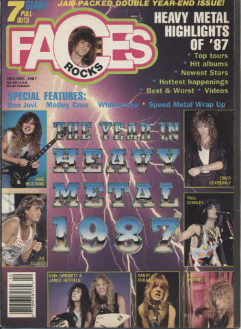 Rocks Faces Magazine November- December 1987