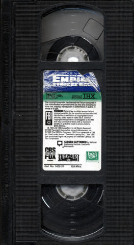 Star Wars: The Empire Strikes Back VHS