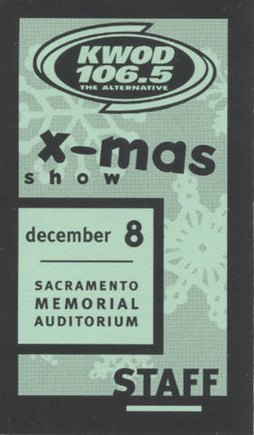 Twisted X-Mas Backstage Pass