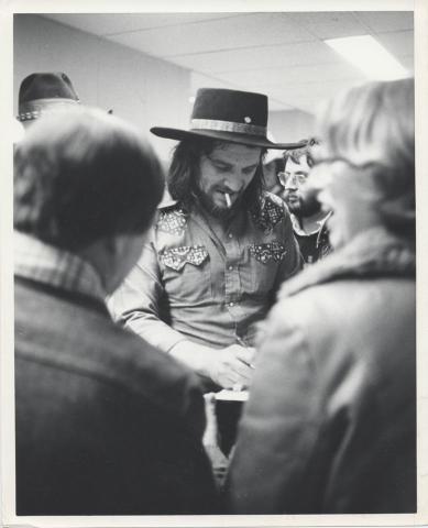 Waylon Jennings Vintage Print