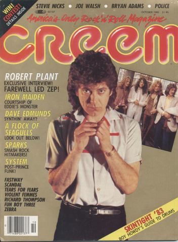 Creem Magazine October 1983