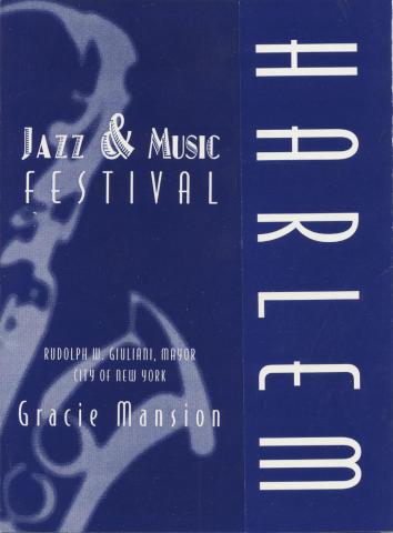 Harlem Jazz & Music Festival Invitee Handbill