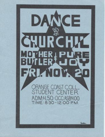 Dance Churchil Handbill