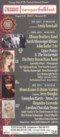 Newport Folk Festival Handbill