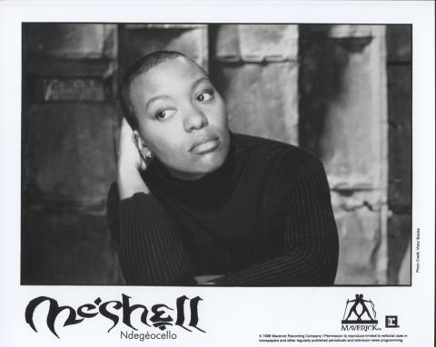 Me'Shell NdegeOcello Promo Print