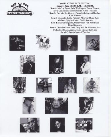 Playboy Jazz Festival Promo Print