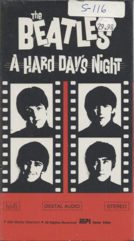 A Hard Day's Night VHS