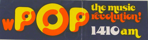 WPOP 1410 AM Sticker