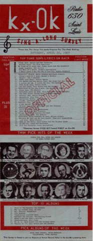 KXOK Radio 630 Sing-A-Long Survey Handbill