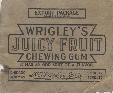Wrigley's Gum Advertisement Handbill