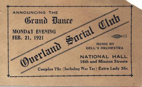 Grand Dance Vintage Ticket