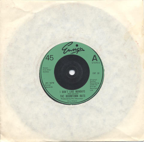 """The Boomtown Rats Vinyl 7"""" (Used)"""