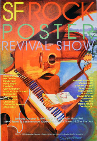 San Francisco Rock Poster Revival Poster