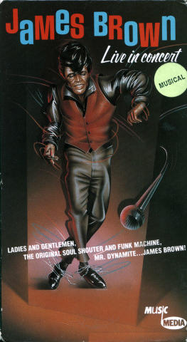 James Brown Live In Concert VHS