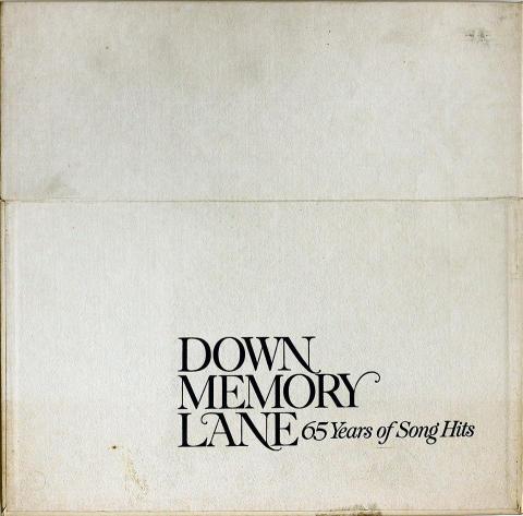 """Down Memory Lane- 65 Years of Song Hits Vinyl 12"""""""