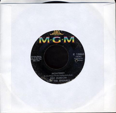 "Eric Burdon & The Animals Vinyl 7"" (Used)"