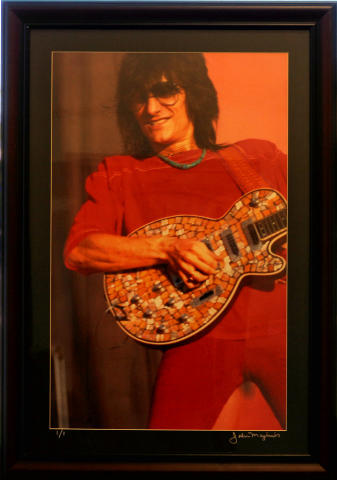 Ronnie Wood Framed Vintage Print