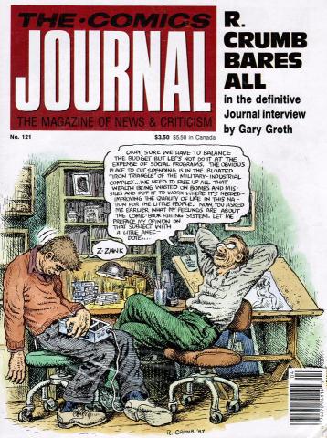 Fantagraphics: The Comics Journal #121
