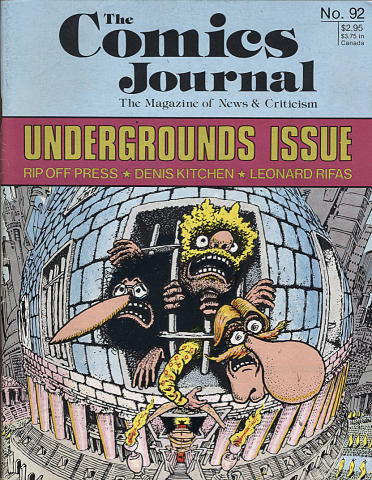 Fantagraphics: The Comics Journal #92