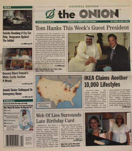 The Onion April 29, 2004