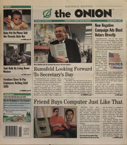 The Onion April 15, 2004