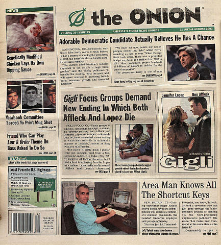 The Onion July 31, 2003