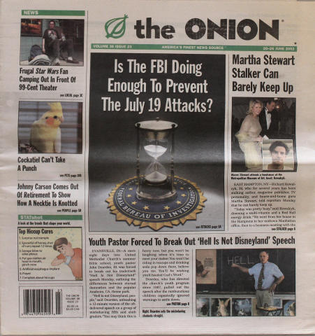 The Onion June 20, 2002