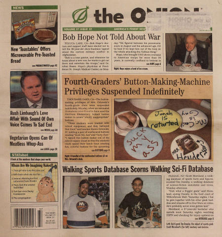 The Onion Vol. 37 Iss. 37