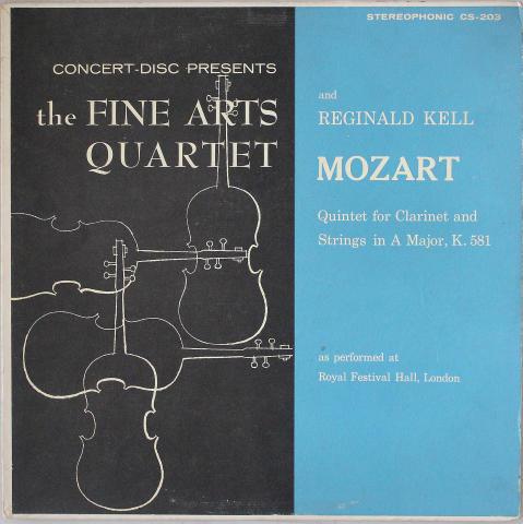 """The Fine Arts Quartet and Reginald Kell Vinyl 12"""""""