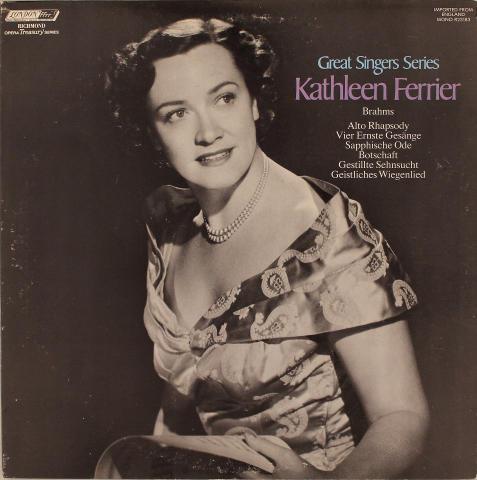 """Kathleen Ferrier Vinyl 12"""""""