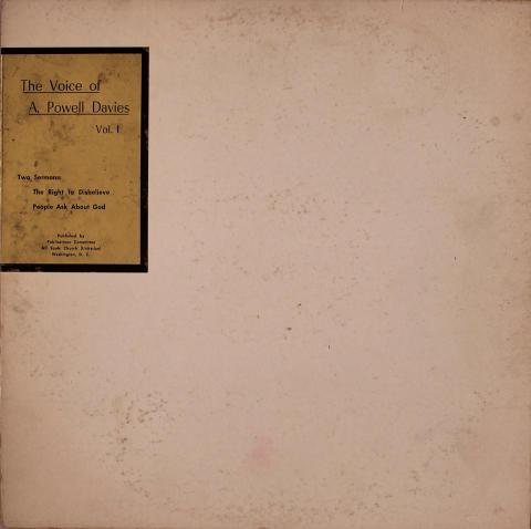"The Voice of A. Powell Davies - Vol. 1 Vinyl 12"""