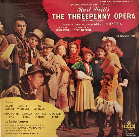 "Kurt Weill's The Threepenny Opera Vinyl 12"""