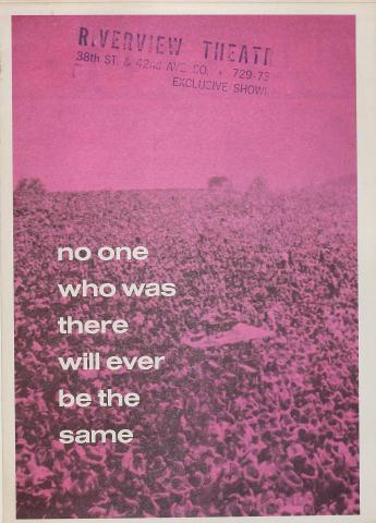 Woodstock (Warner Bros.) Program