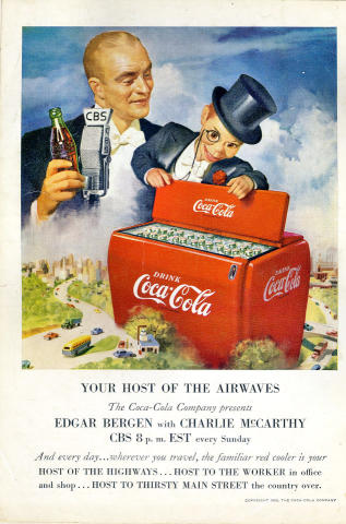 Coca-Cola: Your Host Of The Airways Vintage Ad
