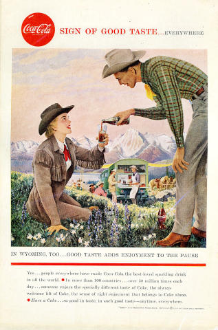 Coca-Cola: Sign Of Good Taste...Everywhere - Wyoming Vintage Ad