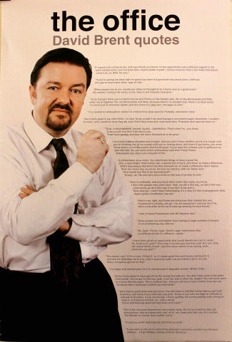 The Office: David Brent Quotes Poster
