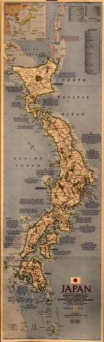 National Geographic Japan Map Poster