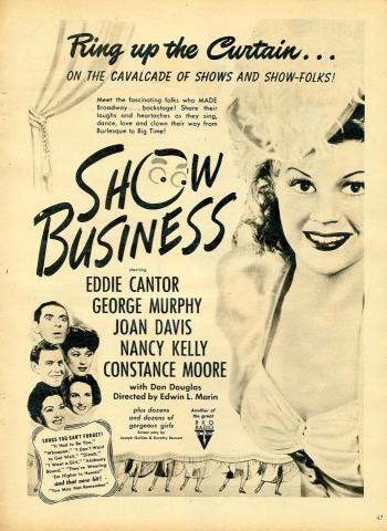 Show Business Vintage Ad