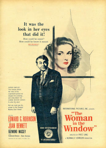 The Woman In The Window Vintage Ad