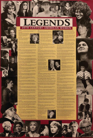 Legends: 20th Century American Women Poster